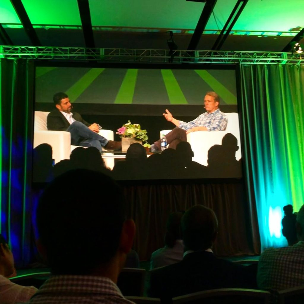 Seth Adler and Bruce Linton at the Cannabis Business Summit and Expo in San Jose, CA